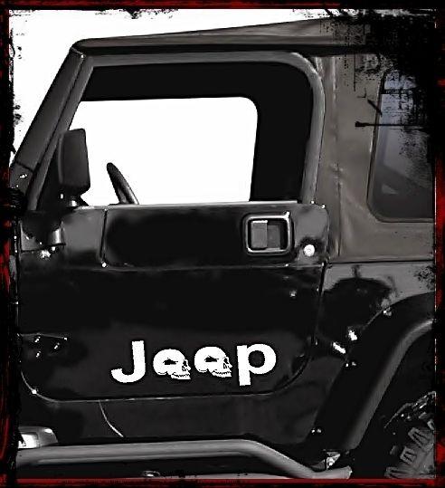 10 Jeep Skull Logo Vinyl Decal Sticker Wrangler OEM TJ