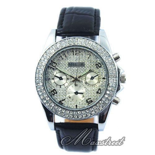 New Fashion Womens Ladys Luxury Bling Crystal Quartz Wrist Watch 6