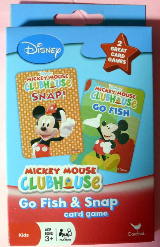 DISNEY MICKEY MOUSE CLUBHOUSE CARDS GAMES SET   NICE
