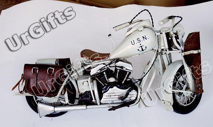 Vintage Hand Made Metal Art Bar Decor 1/6 Harley Davidson Motorcycle