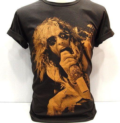 Steven Tyler Heavy Metal VTG Rock T Shirt aerosmith L