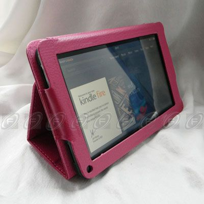 Fire PU leather Folio Case Cover/Car Charger/USB Cable/Stylus/Protect