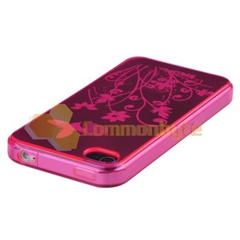Skin CASE+Car+Travel Charger+PRIVACY FILTER For iPhone 4 4S 4G 4GS G
