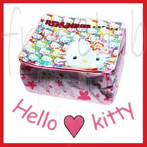 Hello Kitty Zipper Storage Bag Case Home Organizer