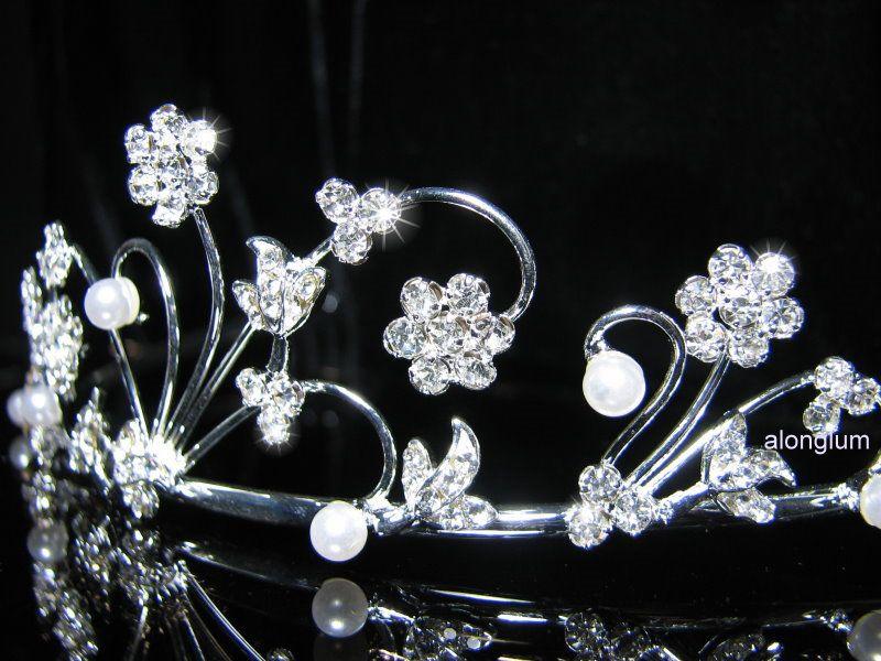 A29 Wedding Bridal Bridesmaid Prom Flower Swarovski Crystal Rhinestone